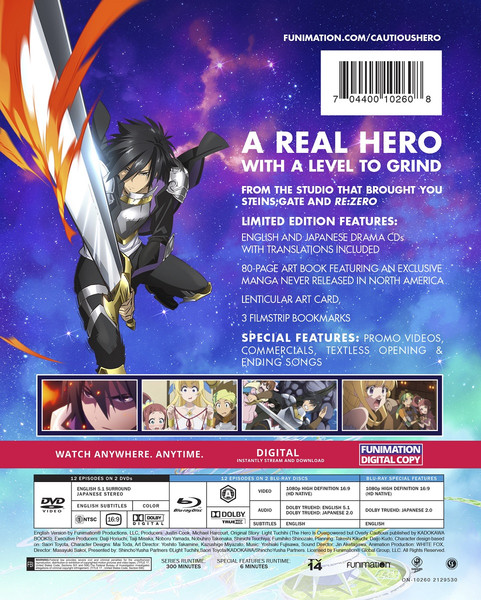 Cautious Hero The Hero is Overpowered but Overly Cautious Limited Edition Blu-ray/DVD
