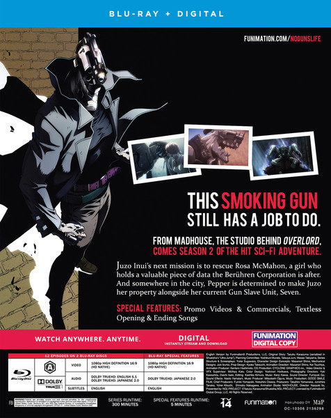 No Guns Life Season 2 Blu-Ray