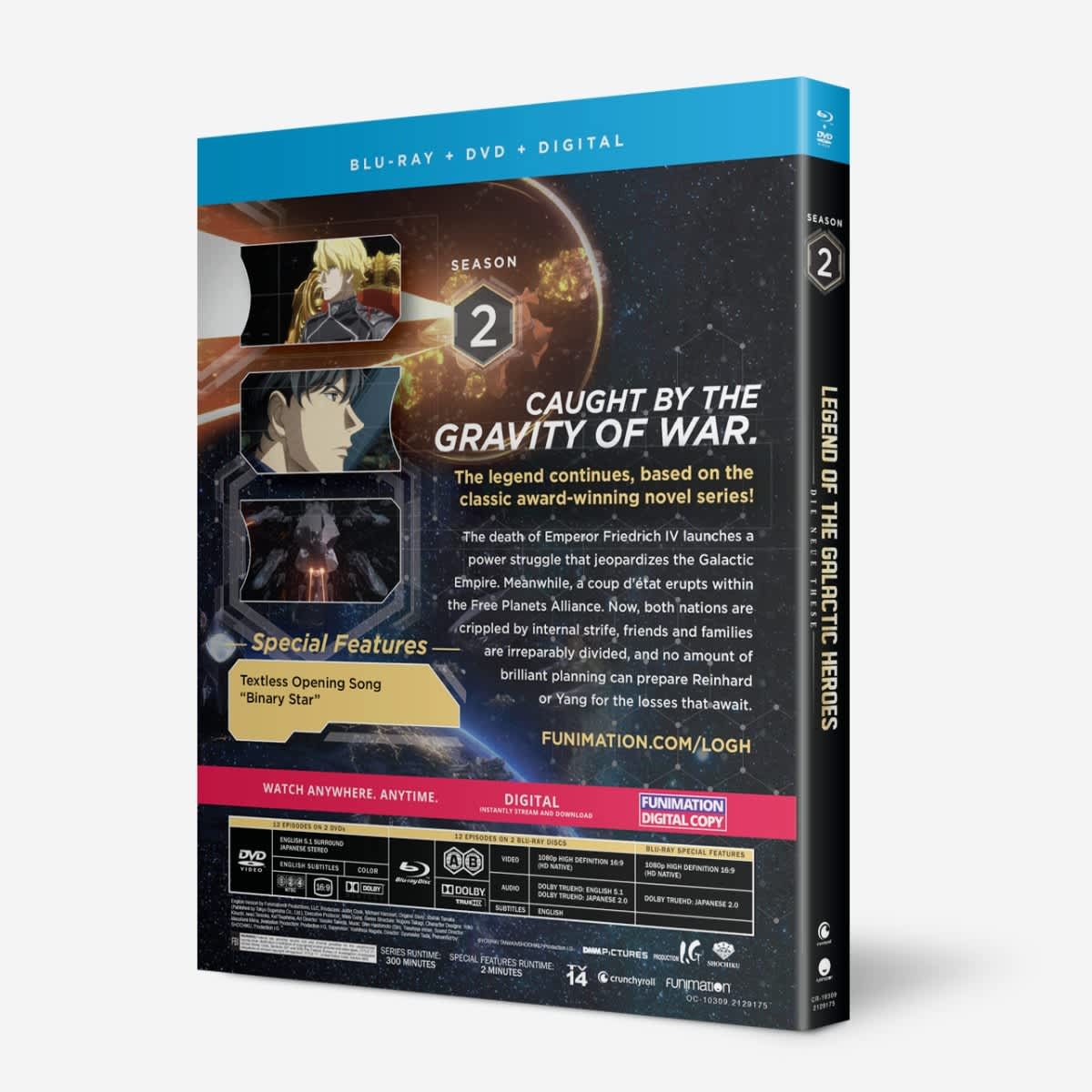 Legend of the Galactic Heroes Die Neue These Second Season 2 Blu-ray/DVD
