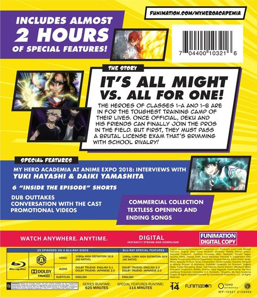 My Hero Academia Season 3 Complete Collection Blu-ray