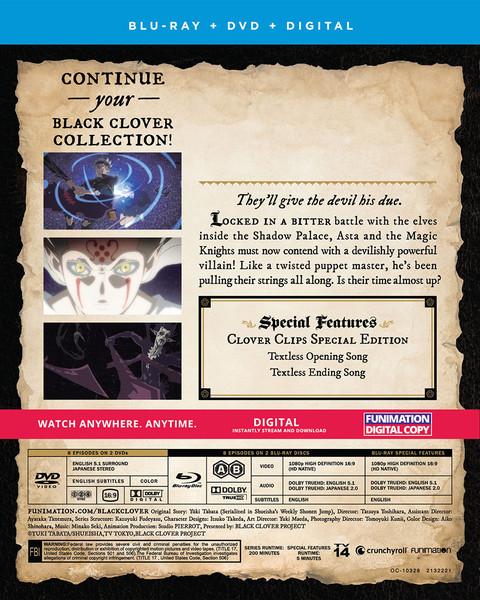 Black Clover Season 3 Part 2 Blu-ray/DVD