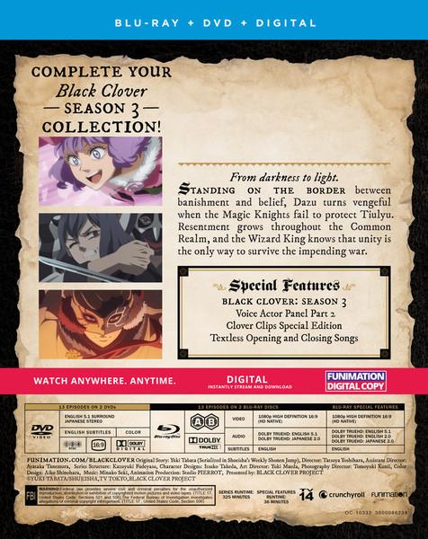 Black Clover Season 3 Part 5 Blu-ray/DVD