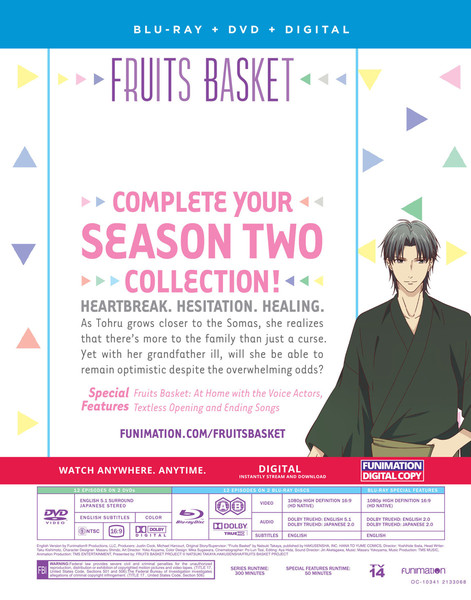 Fruits Basket Season 2 Part 2 Blu-ray/DVD