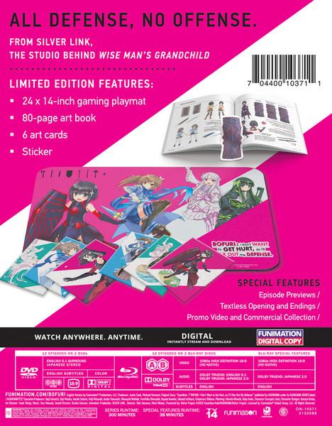 BOFURI I Don't Want to Get Hurt So I'll Max Out My Defense Season 1 Limited Edition Blu-ray/DVD