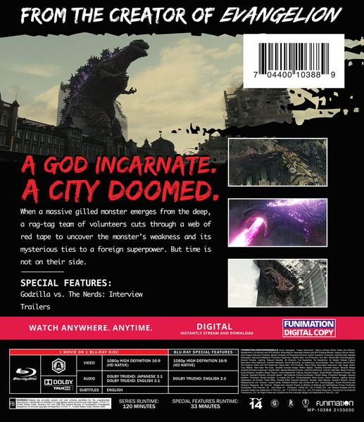 Shin Godzilla Movie Blu-ray