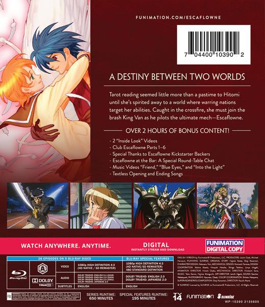 The Vision of Escaflowne Complete Series Classics Blu-ray