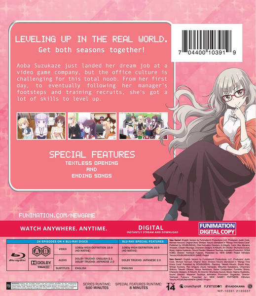 NEW GAME! Complete Series Essentials Blu-ray