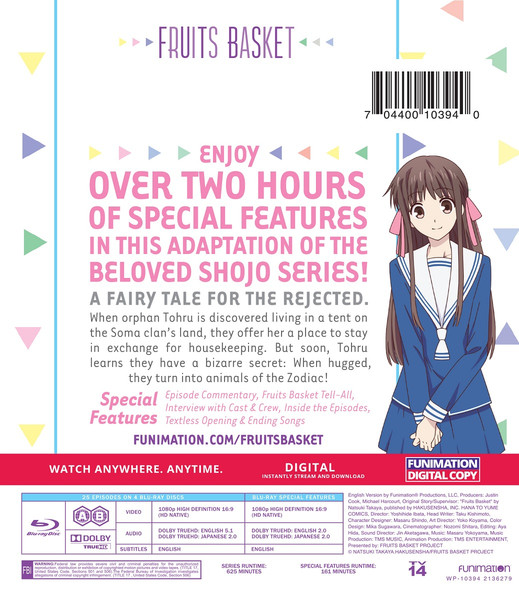 Fruits Basket Season 1 Complete Collection Blu-ray