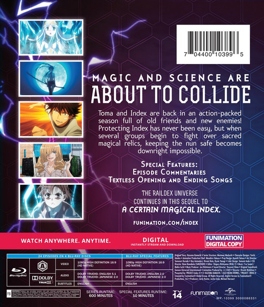 A Certain Magical Index Season 2 Essentials Blu-ray