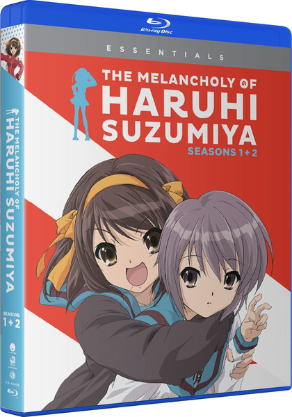The Melancholy of Haruhi Suzumiya Seasons 1 and 2 Essentials Blu-ray
