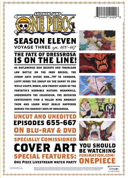 One Piece Season 11 Part 3 Blu-ray/DVD