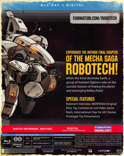 Robotech Part 3 The New Generation Blu-ray