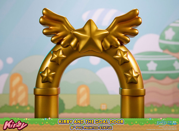 Kirby and the Goal Door Statue