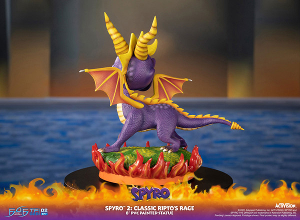 Spyro Classic Ripto's Rage Spyro 2 Statue Figure