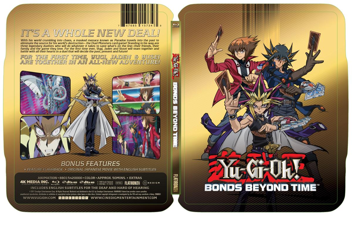 YuGiOh! Bonds Beyond Time Steelbook Blu-ray 767685157343
