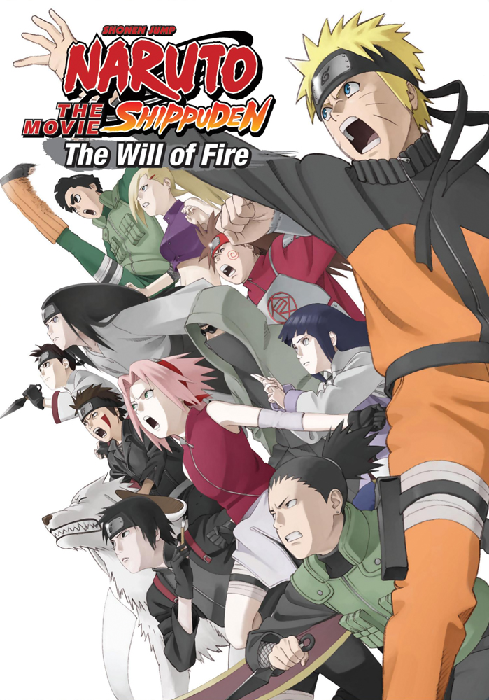 Naruto Shippuden Movie 3 The Will of Fire DVD 782009242314
