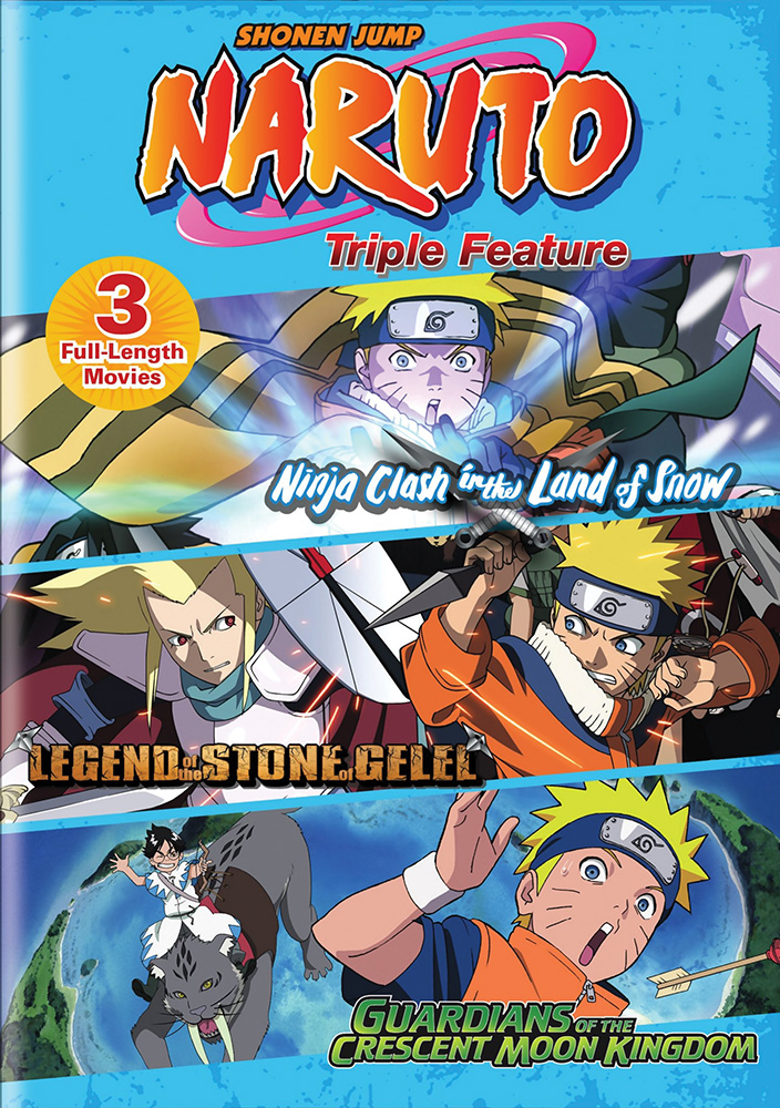 Naruto Movie Triple Feature DVD 782009243465