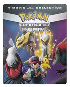 Pokemon Diamond and Pearl Movie 4-Pack Steelbook Blu-ray