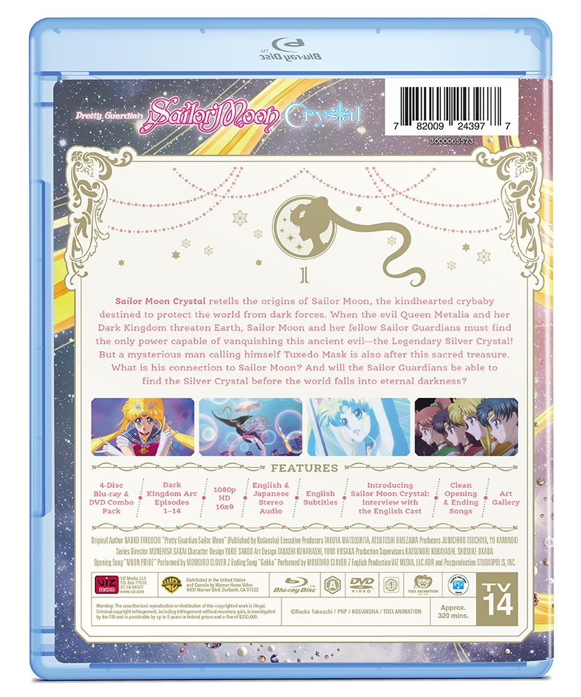 Sailor Moon Crystal Set 1 Limited Edition Blu-ray/DVD + GWP