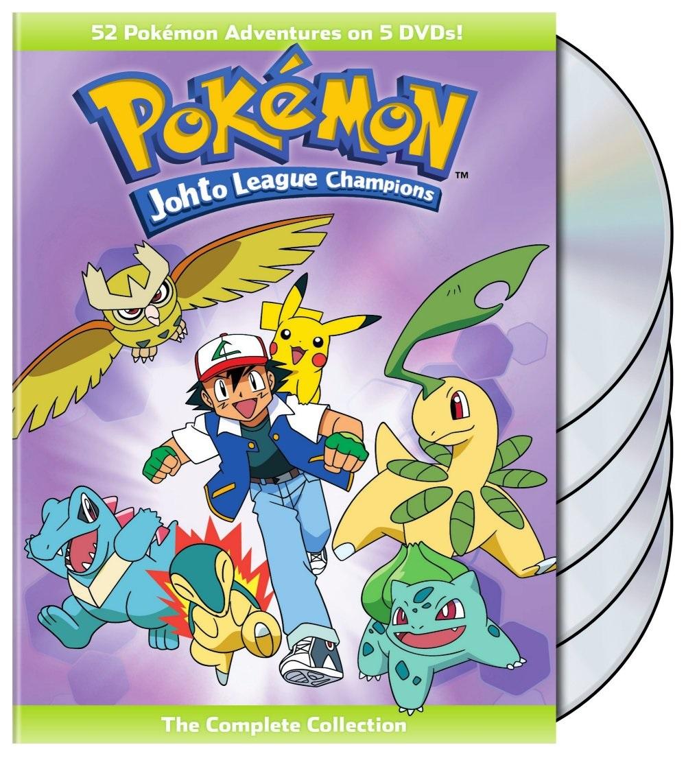 Pokemon Johto League Champions DVD