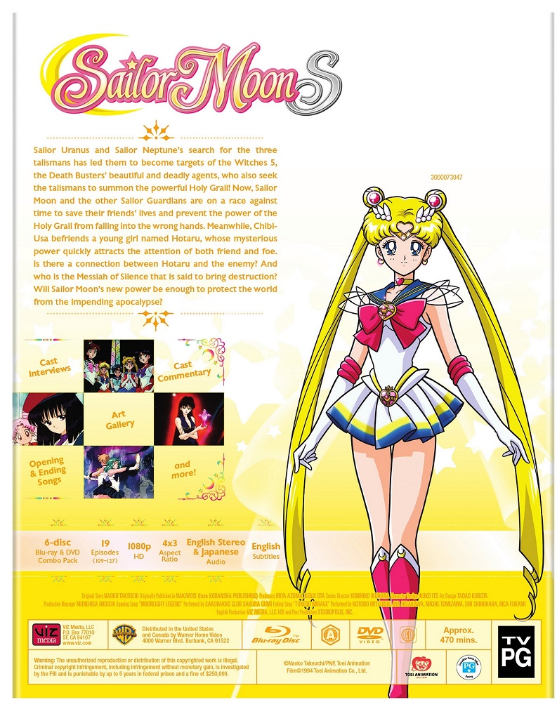 Sailor Moon S Part 2 Blu-ray/DVD + GWP