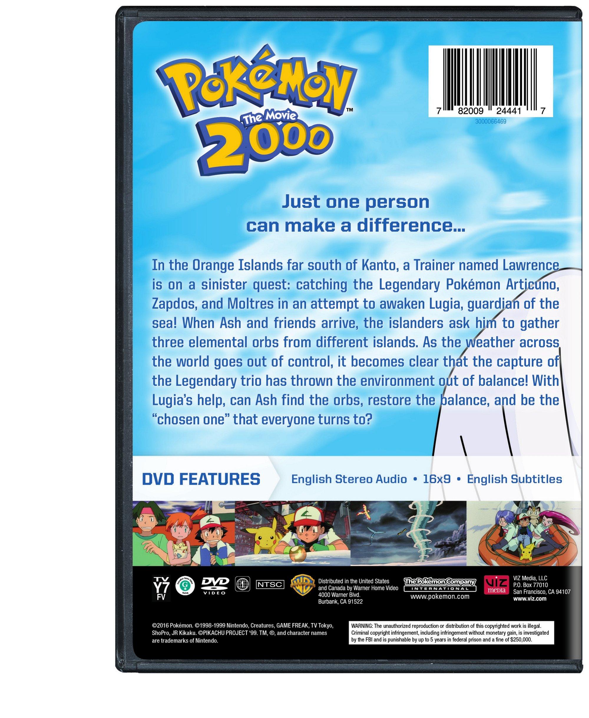 Pokemon The Movie 2000 Dvd