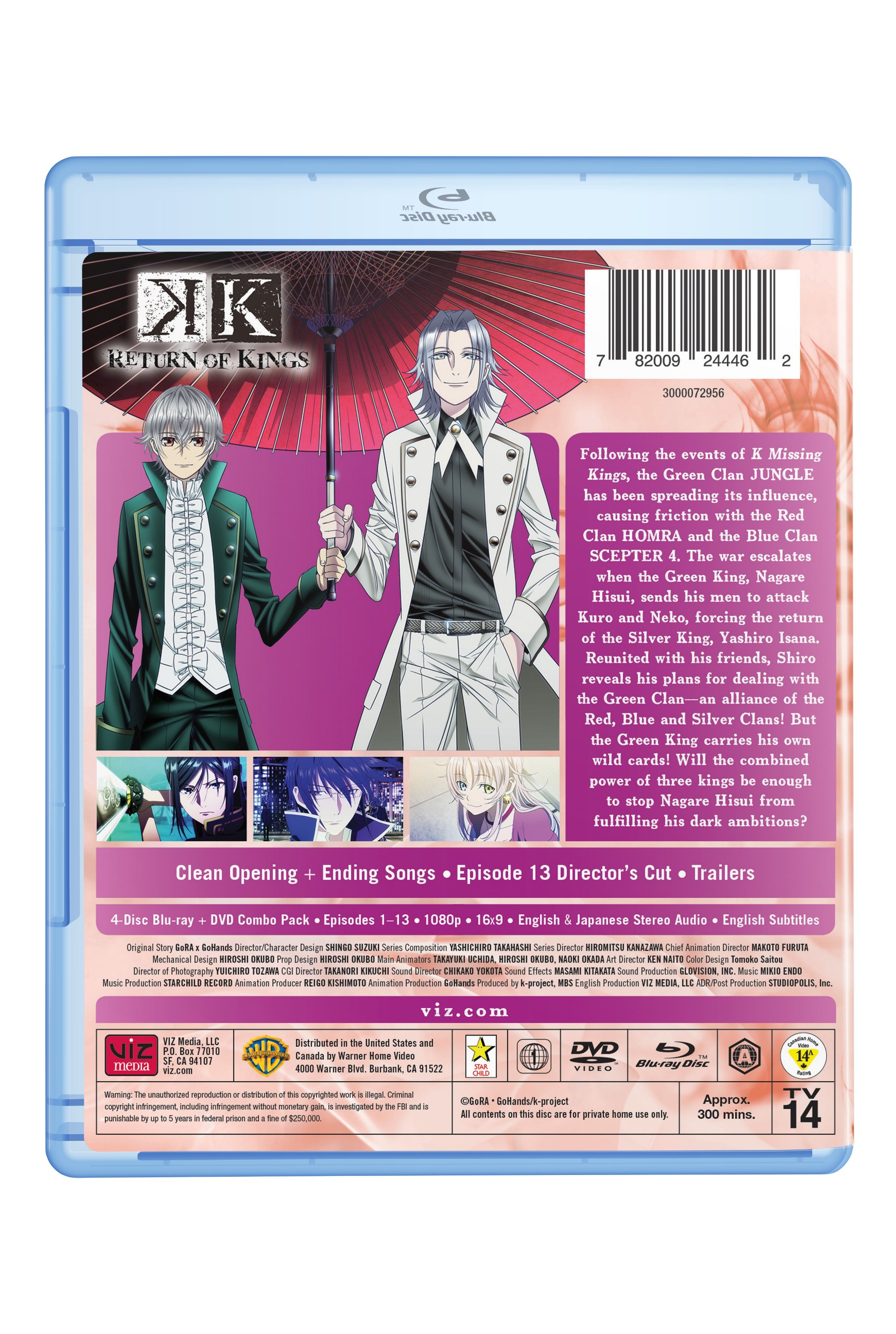 K Return Of Kings Blu Ray Dvd