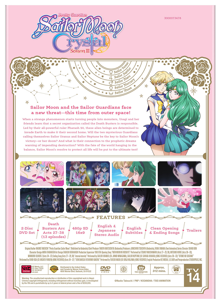 Sailor Moon Crystal Set 3 DVD