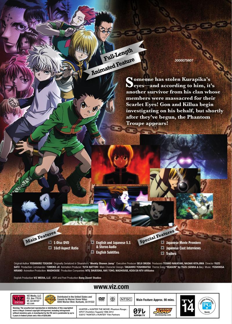 Hunter X Hunter Phantom Rouge DVD