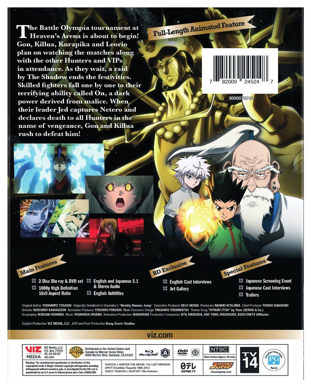 Hunter X Hunter The Last Mission Blu-ray/DVD