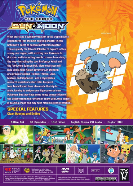 Pokemon Sun & Moon DVD