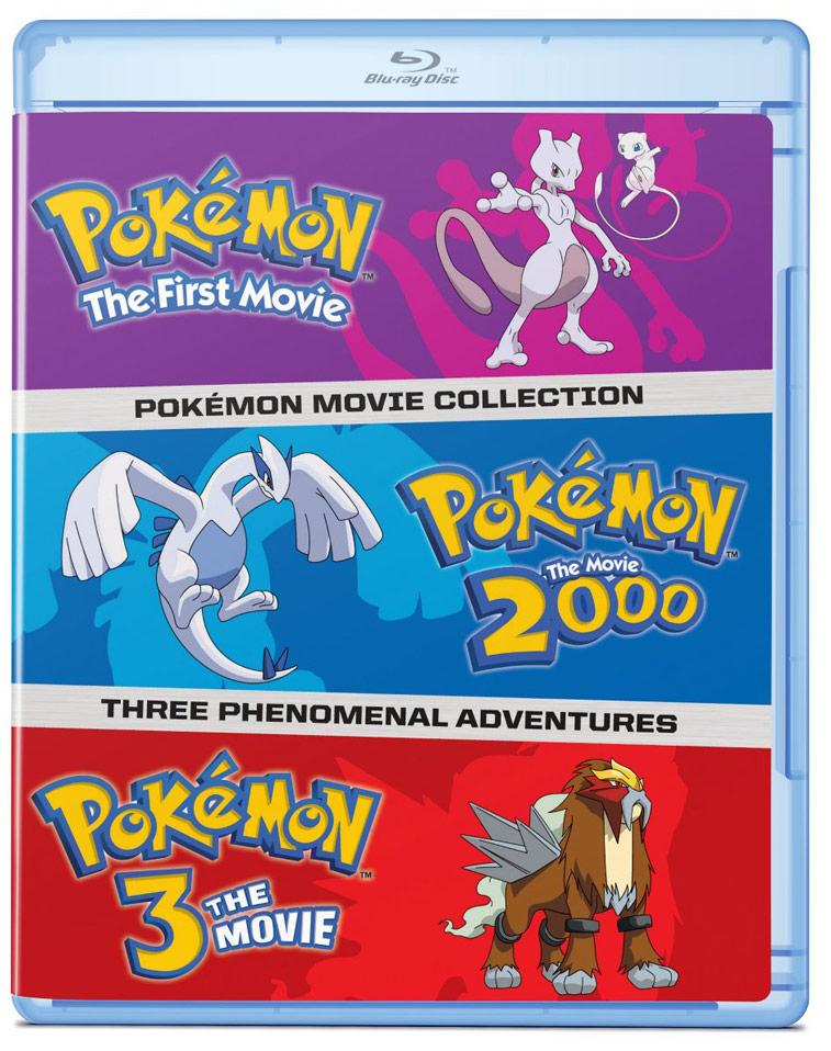 Pokemon Movies 1-3 Blu-ray