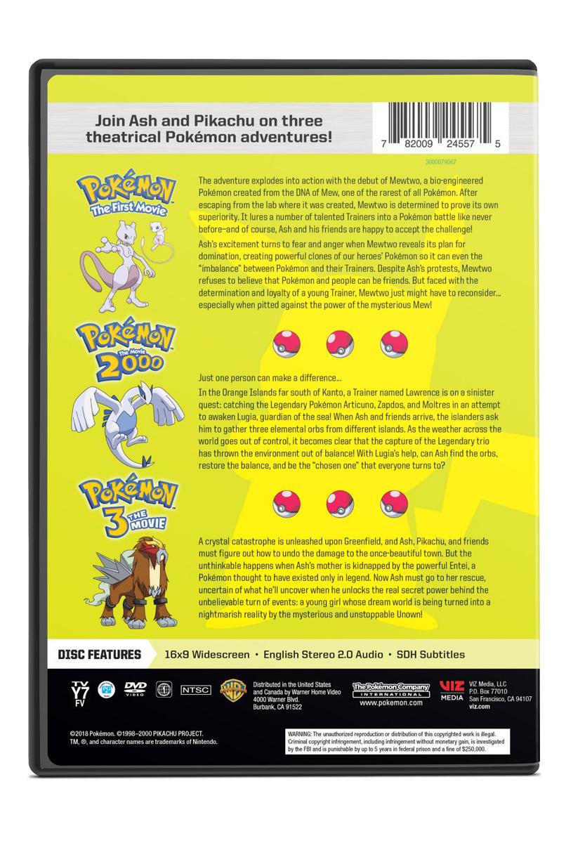 Pokemon Movies 1 3 Dvd
