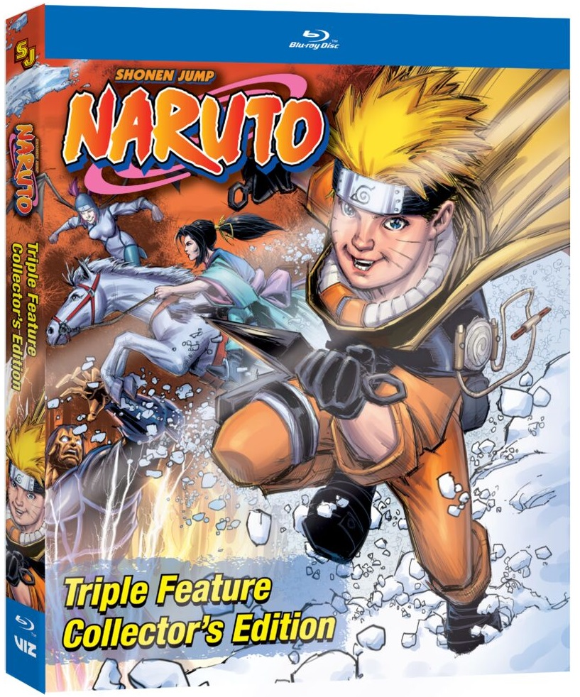 Naruto Triple Feature Collector's Edition Steelbook Blu-ray
