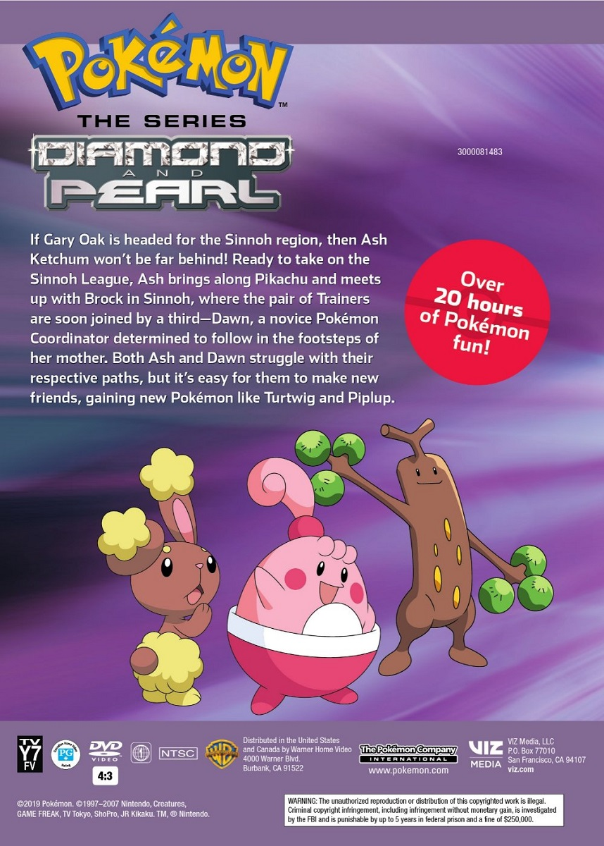 Pokemon Diamond and Pearl DVD