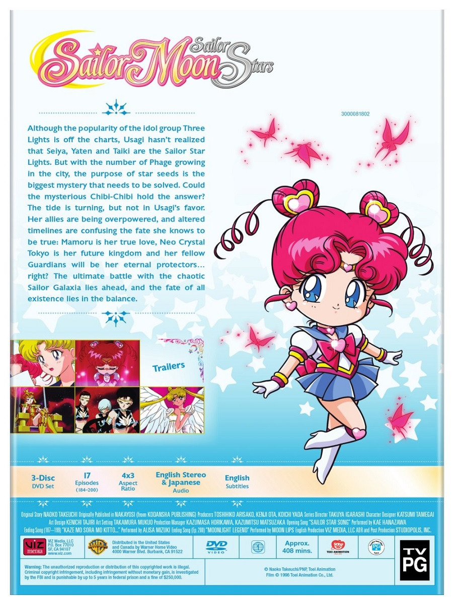 Sailor Moon Sailor StarS Set 2 DVD