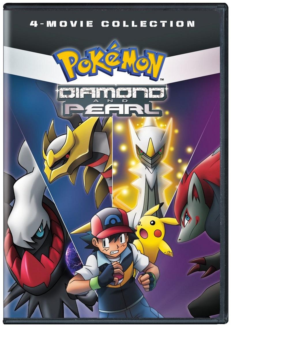Pokemon Diamond and Pearl Movie 4-Pack DVD