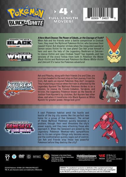 Pokemon Black and White Movie 4-Pack DVD