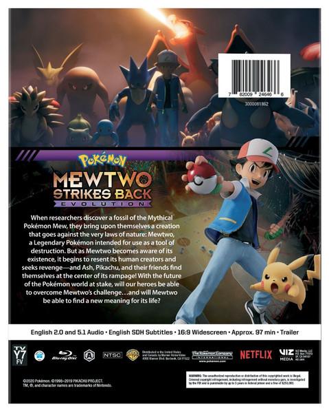 Pokemon the Movie Mewtwo Strikes Back Evolution Blu-Ray
