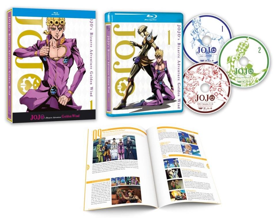 JoJo's Bizarre Adventure Golden Wind Set 1 Blu-ray