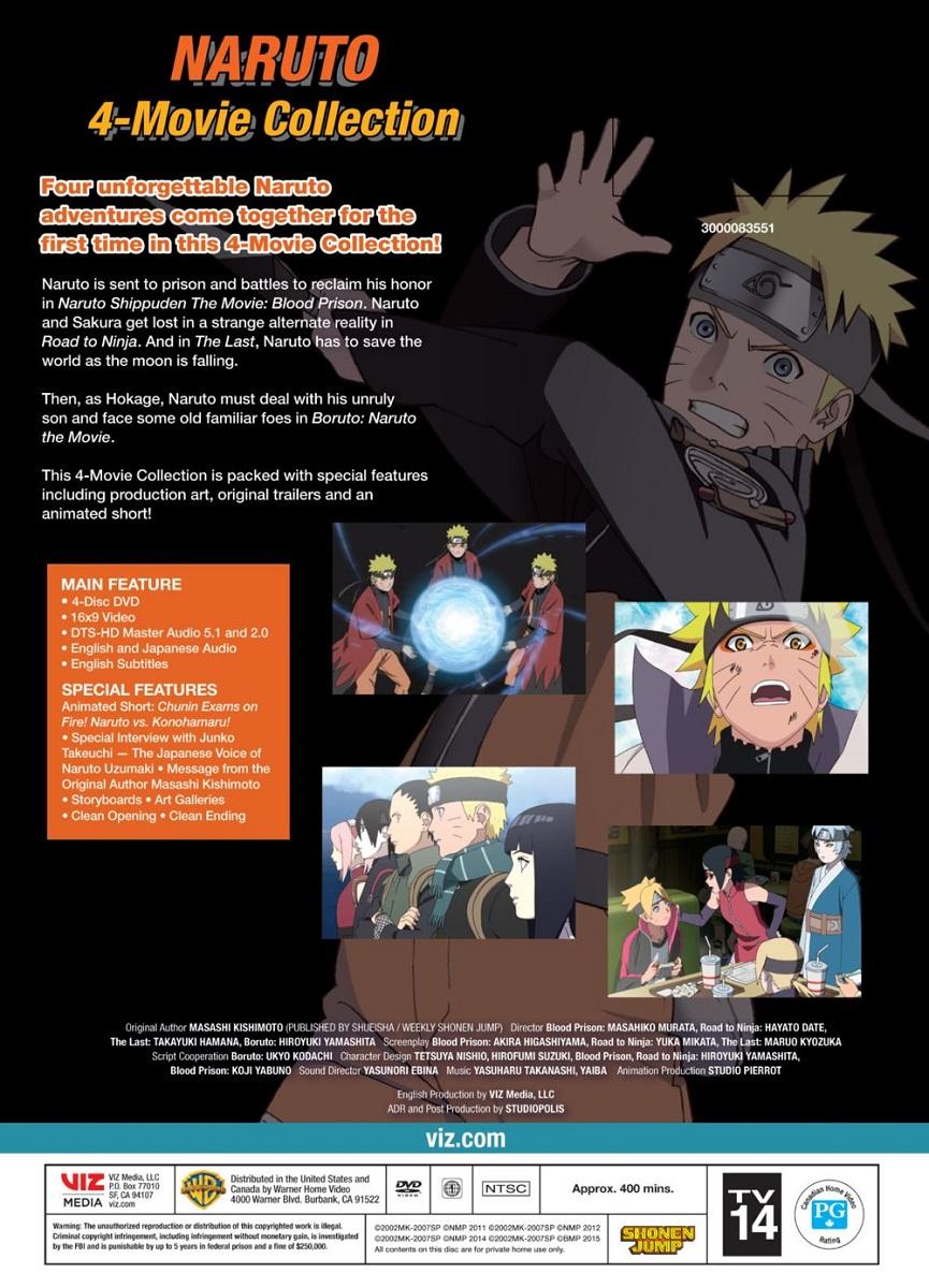 Naruto 4-Movie Collection DVD