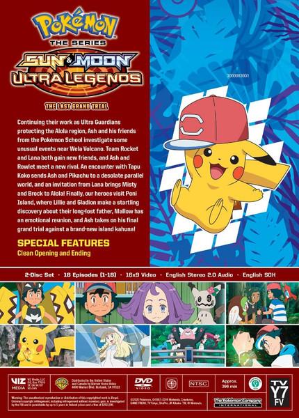 Pokemon Sun & Moon Ultra Legends The Last Grand Trial DVD