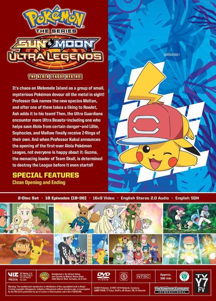 Pokemon Sun & Moon Ultra Legends The Alola League Begins DVD