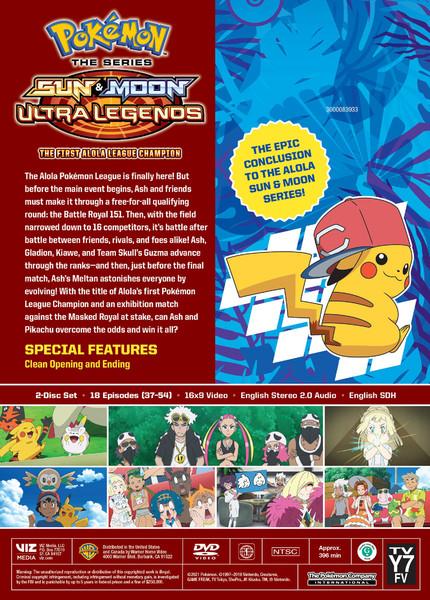 Pokemon Sun & Moon Ultra Legends The First Alola League Champion DVD