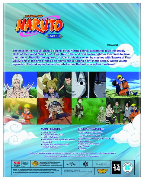 Naruto Set 5 Blu-ray
