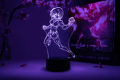 Mikasa Ackerman Fighting Pose Attack on Titan Otaku Lamp
