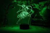 Levi Action Pose Attack on Titan Otaku Lamp