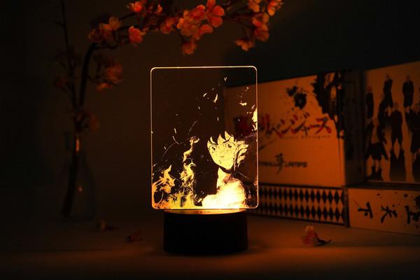 Takemichi Hanagaki with Flames Tokyo Revengers Otaku Lamp