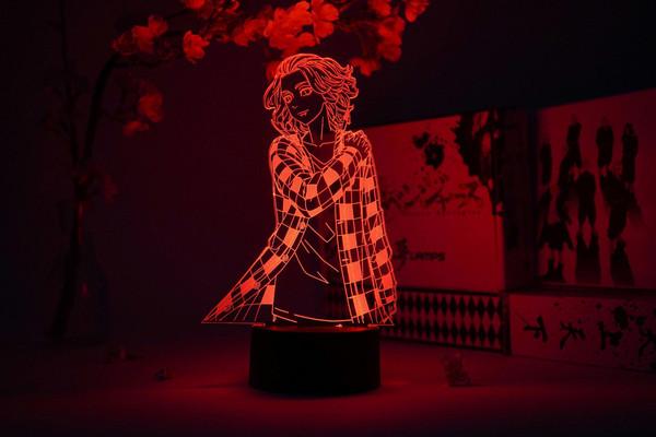 """""""Mikey"""" Manjiro Sano in Plaid Shirt Tokyo Revengers Otaku Lamp"""