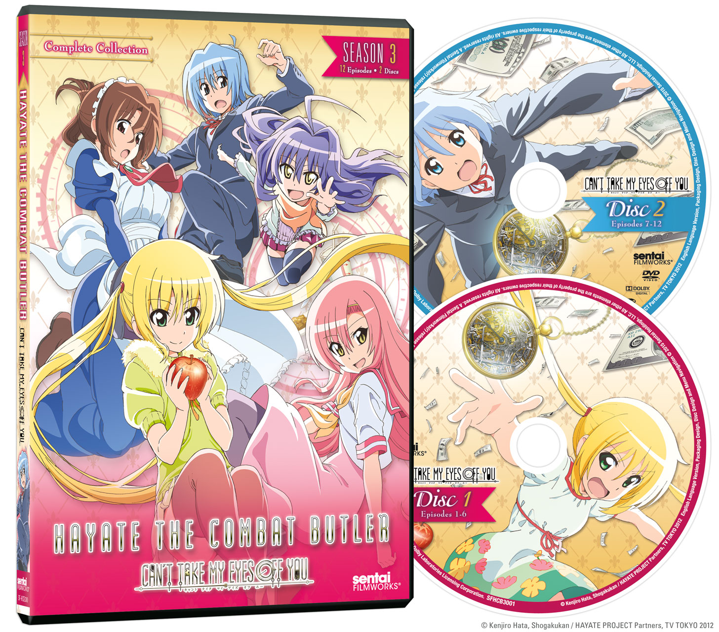 Hayate the Combat Butler Season 3 Can't Take My Eyes Off You DVD